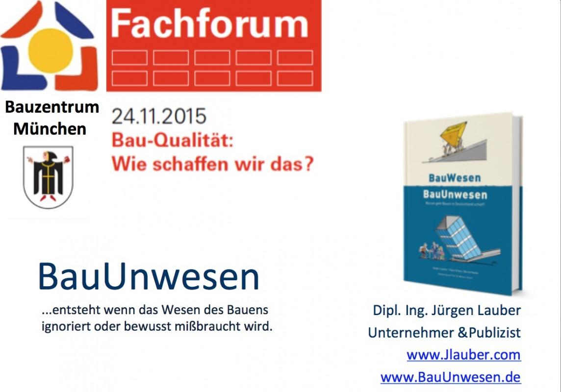 Bauqualität Bauzentrum München 2015