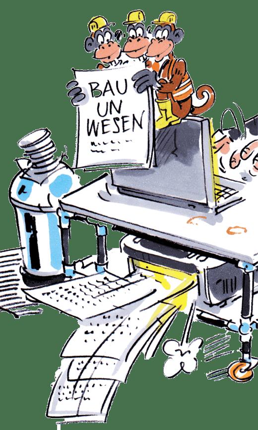 bauunwesen_ Cartoon vom Autor der Webseite Stuttgart 21 / S21