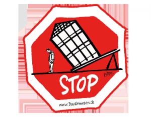 Sticker Stop Verteuerung - Günstiger Wohnen fördern