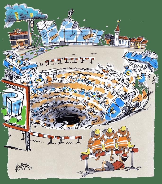 schwarzes Loch Baukultur