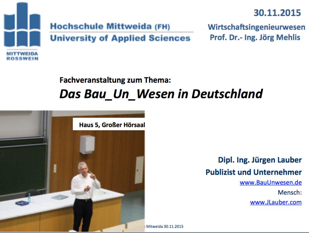 Jürgen Lauber mit BauUnwesen an Hochschule 30-11-2015 .45