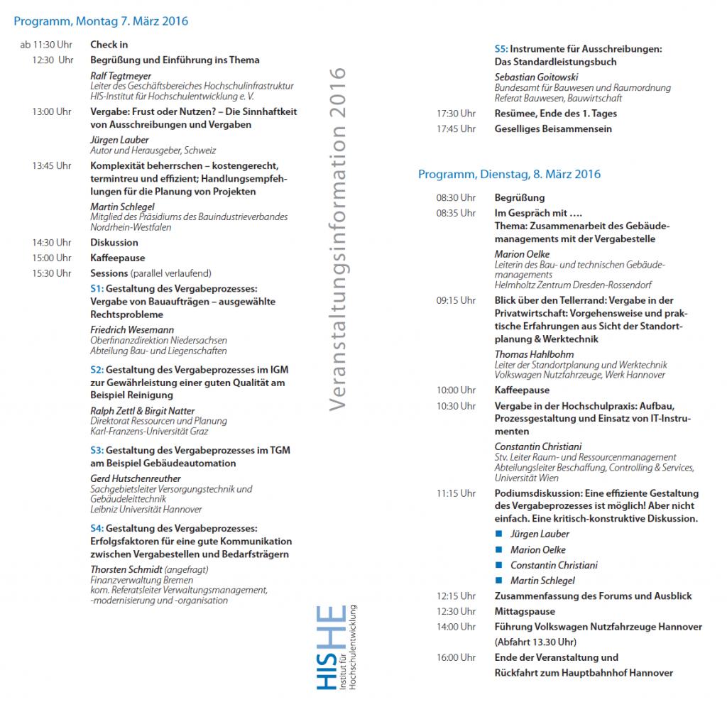 Kongress Agende Vergabe 7-8.März 2016