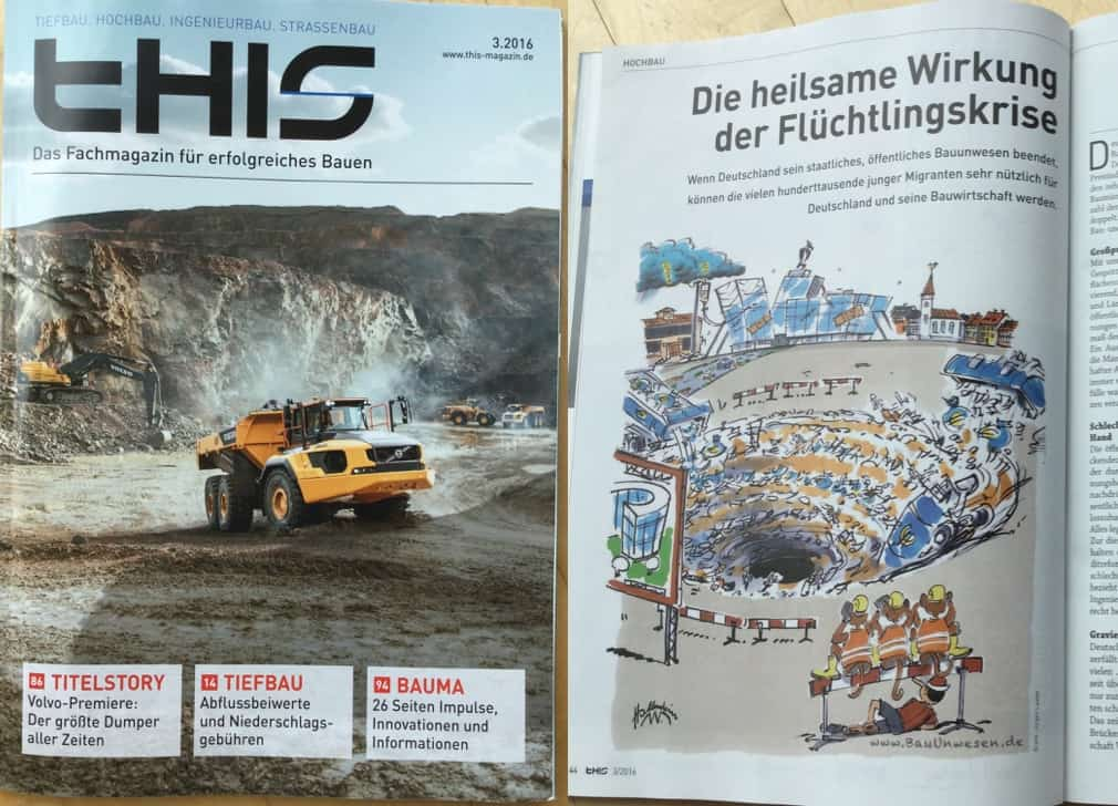 Infrastruktur die zerfällt. Zeitschrift Bauwirtschaft