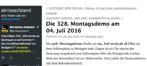 Buergeinitiativen gegen S21 328 Demos