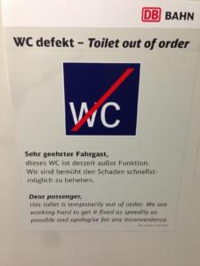 Alltagspech Bahnhöfe WC
