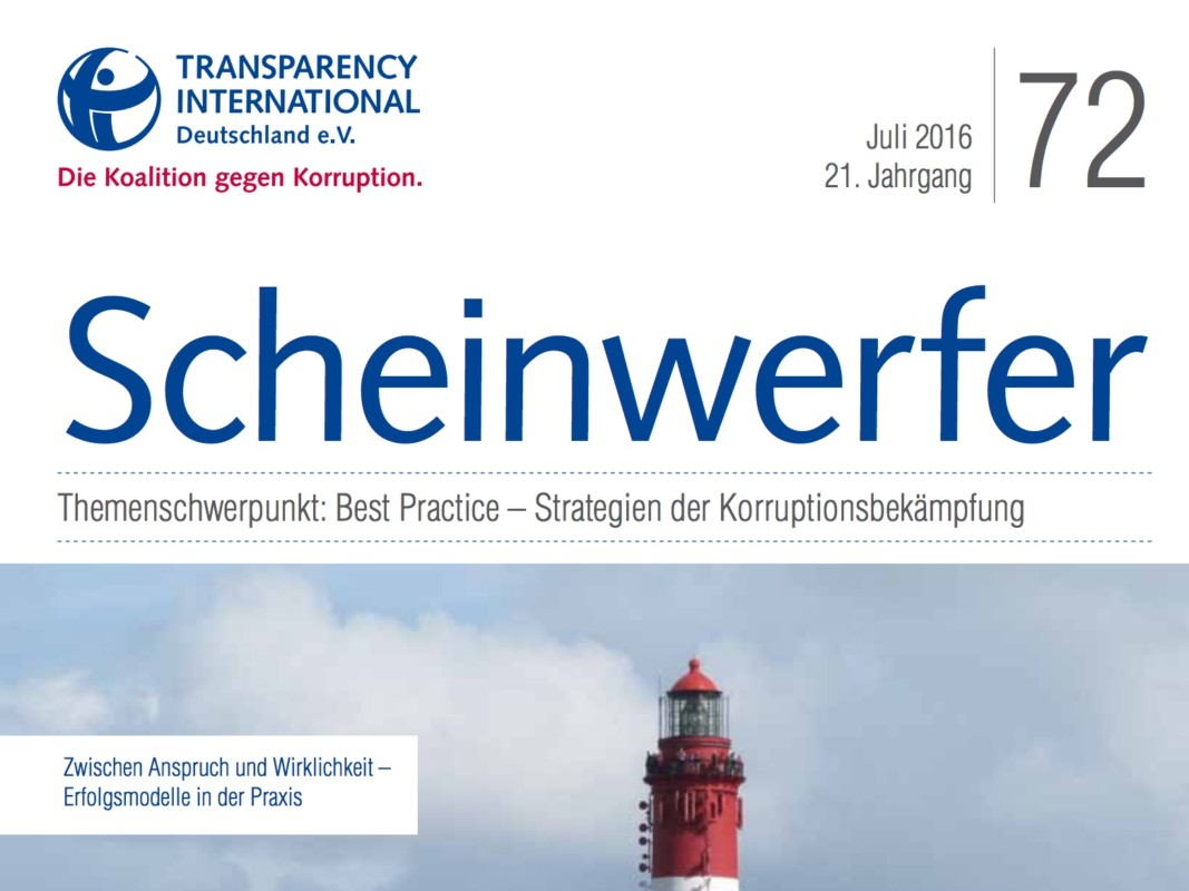 Deckblatt Magazin Transparency International