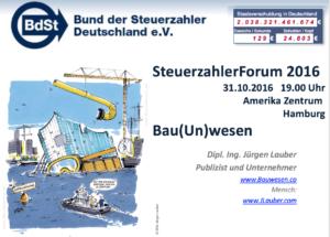 Vortrag über Kosten Elbphilharmonie