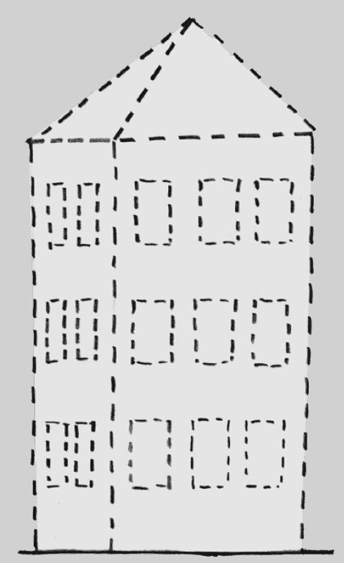 Beim Spatenstich: So (un)vollständig beschreibt die Planung (Bausoll) das künftige Gebäude.