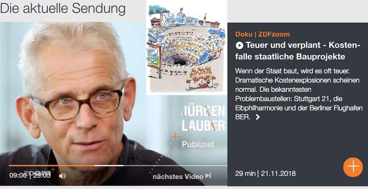 Publizist Juergen Lauber Bauexperte